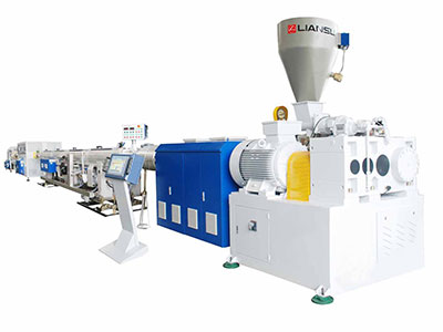 Double-pipe high-speed extrusion production line