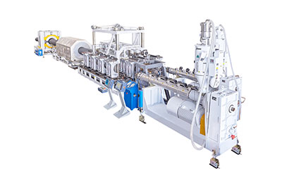 PE/PVC Double Wall Corrugated Pipe Extrusion Line