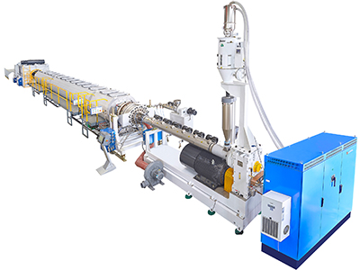 【SDR26~SDR9】280-800MM HDPE Solid Wall Pressure Pipe Extrusion Line